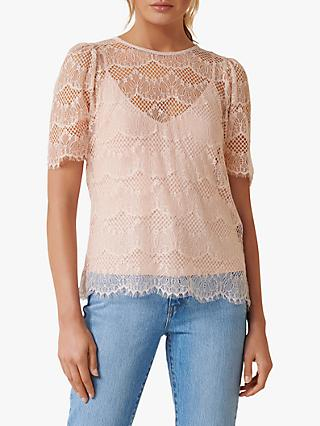 Forever New Alicia Lace Top, Blush