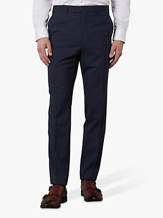 Jaeger Gingham Slim Fit Suit Trousers, Navy