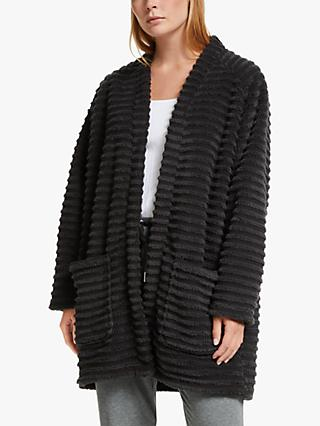 John Lewis & Partners Chunky Rib Throw On, Charcoal