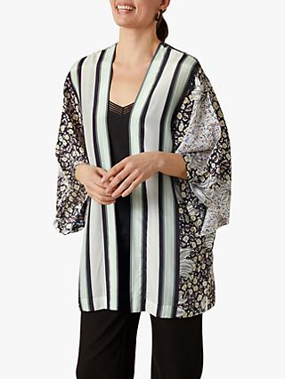 Jigsaw Collage Silk Cape, Multi
