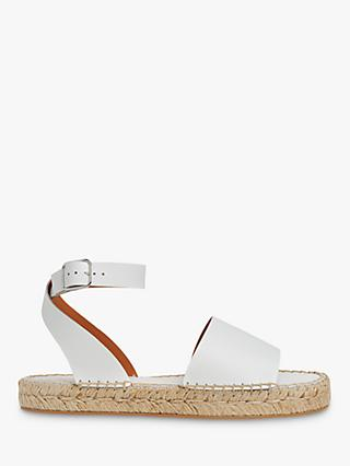 Whistles Lula Leather Espadrille Sandals, White