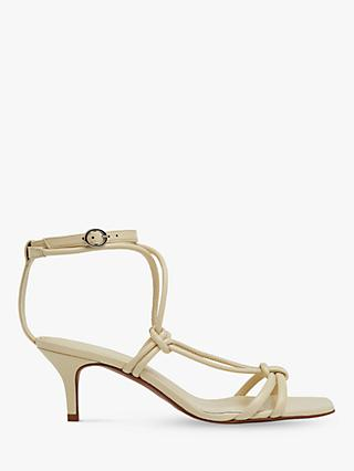 Whistles Emely Leather Kitten Heel Sandals
