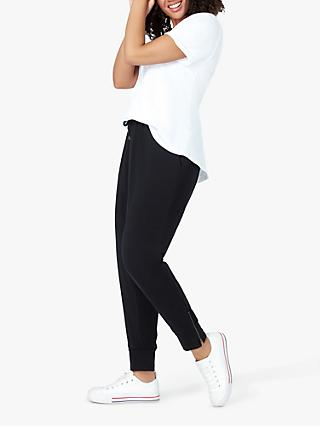 Live Unlimited Curve Zip Detail Joggers, Black