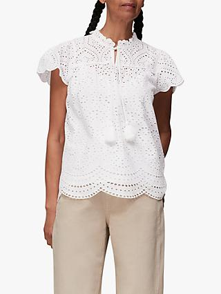 Whistles Bonnie Broderie Blouse