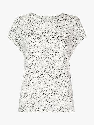 Whistles Fleck Top, Ivory