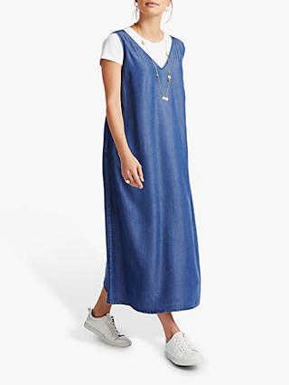 NRBY Frieda Lyocell Slip Dress, Denim Blue