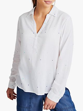 NRBY Ella Spot Cotton Blouse, White