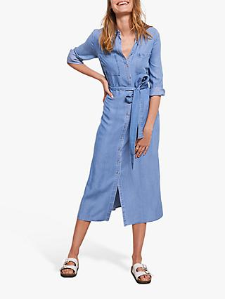 Mint Velvet Belted Denim Midi Dress