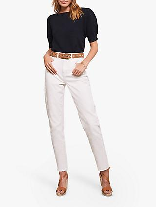 Mint Velvet DallasTapered Jeans, White