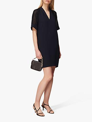 Whistles Lina Dobby Dress, Navy