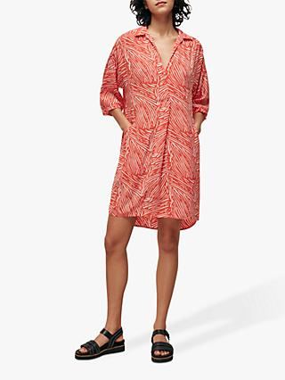 Whistles Tiger Palm Print Tunic Dress, Multi