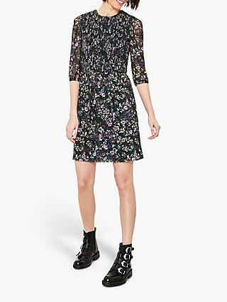 Oasis Smudgy Floral Mini Dress, Multi