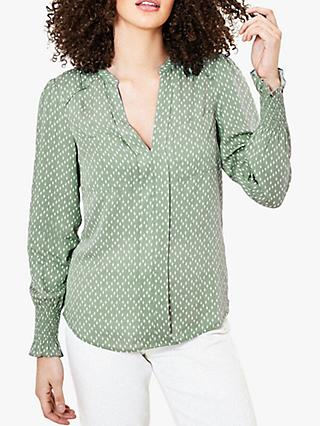 Oasis Cat Eye Printed Shirt, Green