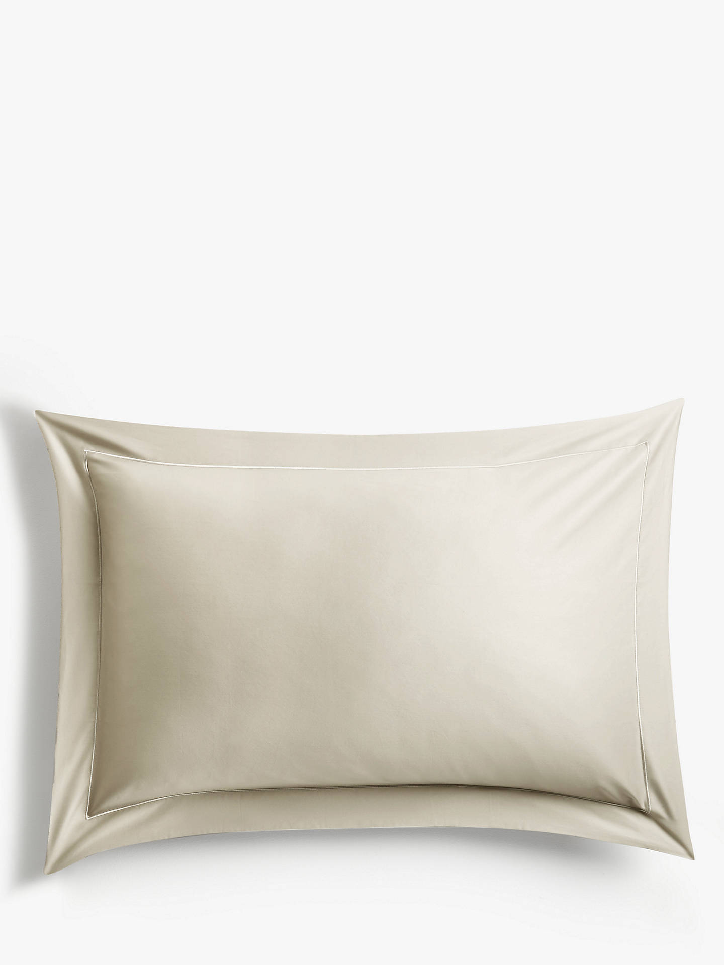 Buy John Lewis & Partners 400 Thread Count Soft & Silky Egyptian Cotton Standard Pillowcase, Soft Latte Online at johnlewis.com