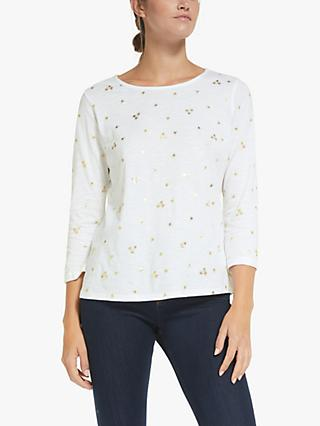 Collection WEEKEND by John Lewis Foil Flower Floral Top, White