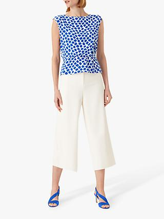 Hobbs Magda Abstract Top, Cobalt/White
