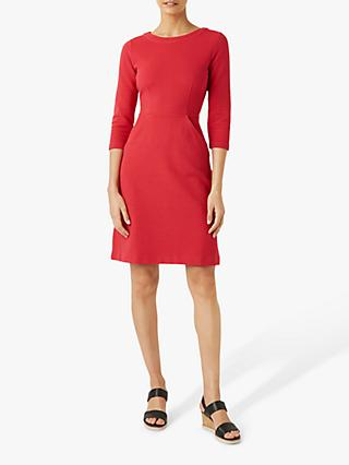 Hobbs Yasmine Shift Dress, Red