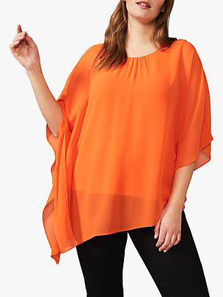 Studio 8 Natalia Batwing Sleeve Asymmetric Hem Top, Orange