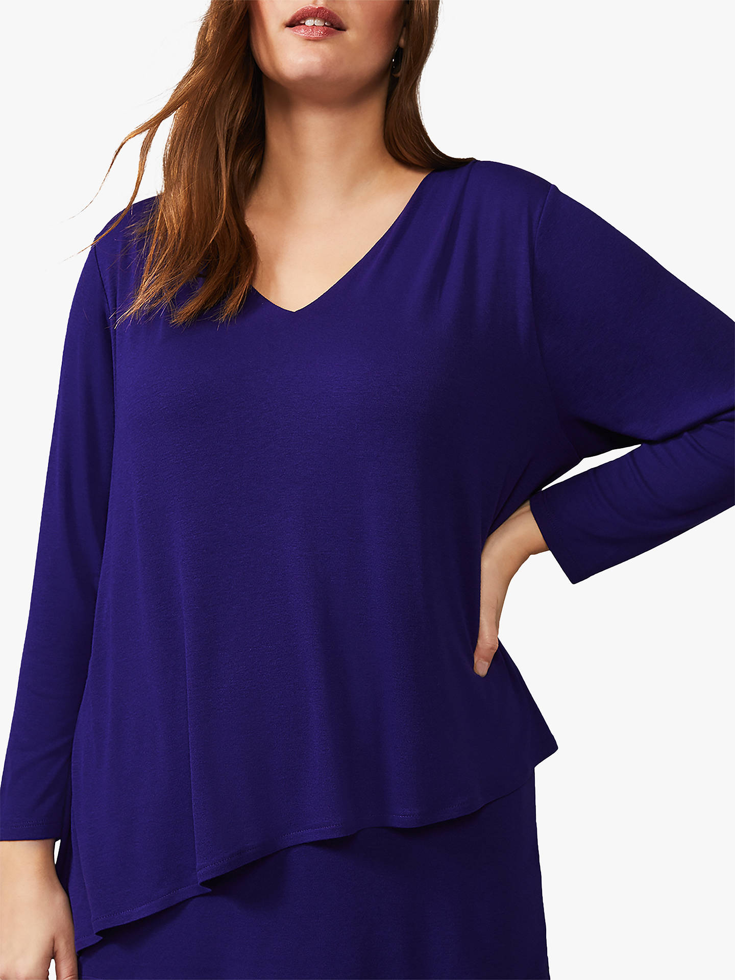 Buy Studio 8 Talia Double Layer Top, Purple, 16 Online at johnlewis.com