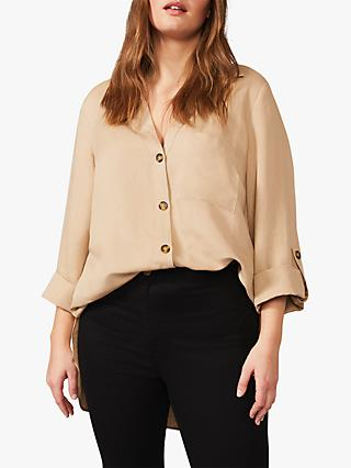Studio 8 Nico Button Sleeve Shirt, Stone