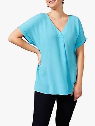 Studio 8 Myrah V-Neck Short Sleeved Top, Blue