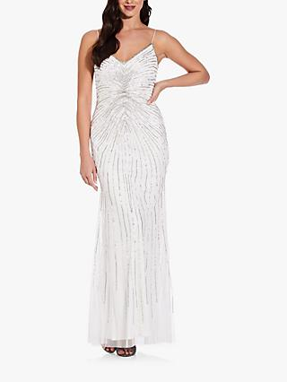 Adrianna Papell Beaded Mermaid Gown, Ivory