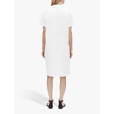 eileen fisher organic cotton poplin shirt dress, white