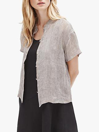 EILEEN FISHER Organic Linen Camp Shirt, Natural