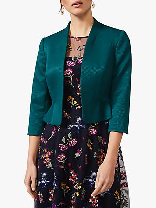 Phase Eight Clementine Peplum Hem Jacket, Jade