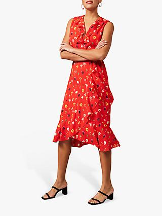 Phase Eight Alanna Ditsy Floral Print Dress, Fire/Multi