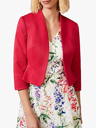 Phase Eight Clementine Peplum Hem Jacket, Fuchsia