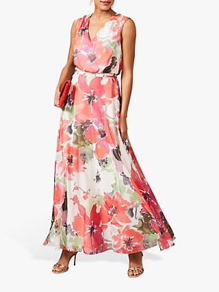 Phase Eight Theodora Floral Print Maxi Dress, Multi