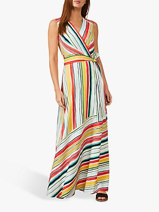 Phase Eight Mari Striped Sleeveless Maxi Dress, Multi