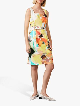 Phase Eight Melita Floral Print Belted Mini Dress, Multi