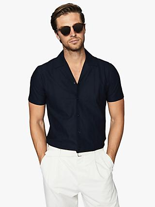 Reiss Julius Cuban Collar Short Sleeve Shirt