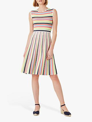 Hobbs Rainbow Knitted Mini Dress, Multi