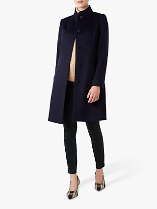 Hobbs Mandy Wool Coat, French Navy