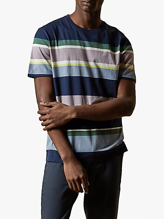 Ted Baker Sleep Stripe T-Shirt, Navy Blue