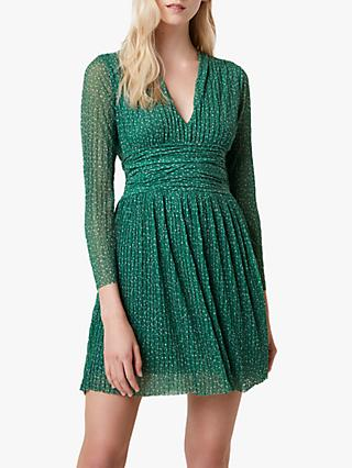 French Connection Tabia Spot Print Jersey V-Neck Dress, Green