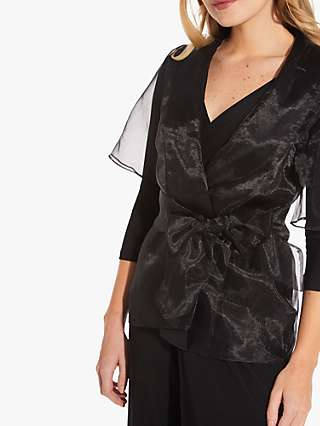 Adrianna Papell Organza Cover Up, Black