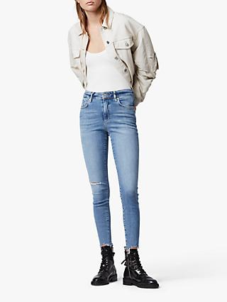 AllSaints Phoenix Ultra High Rise Super Stretch Skinny Jeans, Royal Blue