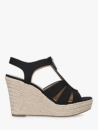 MICHAEL Michael Kors Berkley Zip Up Wedge Sandals, Black