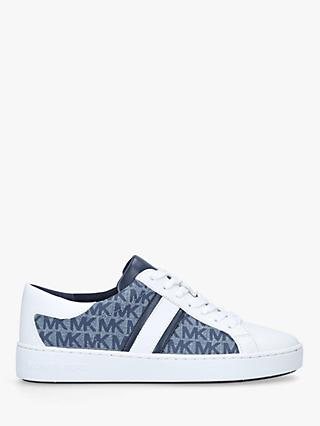 MICHAEL Michael Kors Keaton Leather Lace Up Branded Trainers, Blue