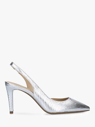 MICHAEL Michael Kors Lucille Flex Metallic Slingback Court Shoes, Silver