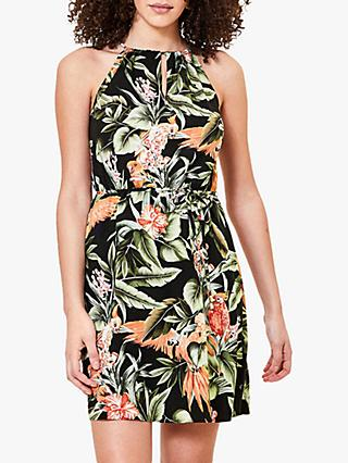 Oasis Tropical Parrot Dress, Multi
