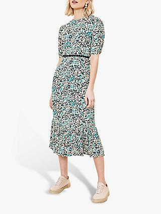 Oasis Ditsy Heart Midi Dress, Multi