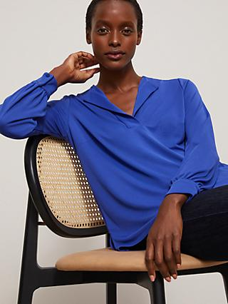 John Lewis & Partners Notch Neck Long Sleeve Top