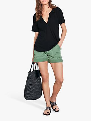 hush Mariette Raglan Top, Black