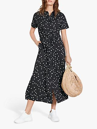hush Julie Shirt Dress, Black/Multi