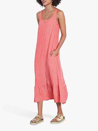 hush Avner Printed Midi Dress, Coral